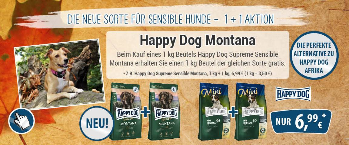 Happy Dog Dog Supreme Sensible Montana 1 kg + 1 kg gratis