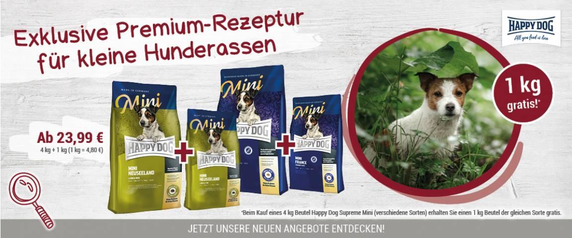 Happy Dog Supreme Sensible Mini France 4 kg + 1 kg gratis