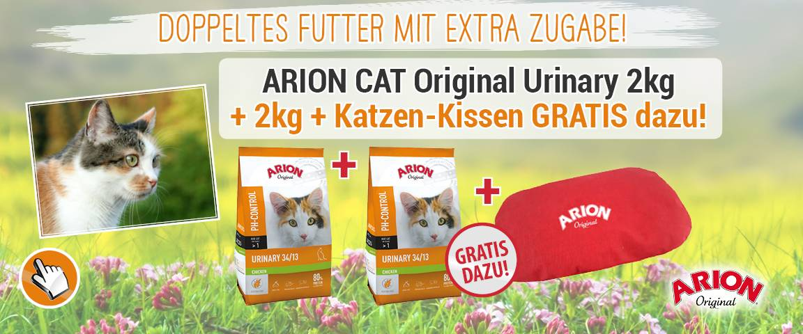 Arion Cat Original Urinary 34/13 Chicken 2kg - 1 + 1 + Kissen