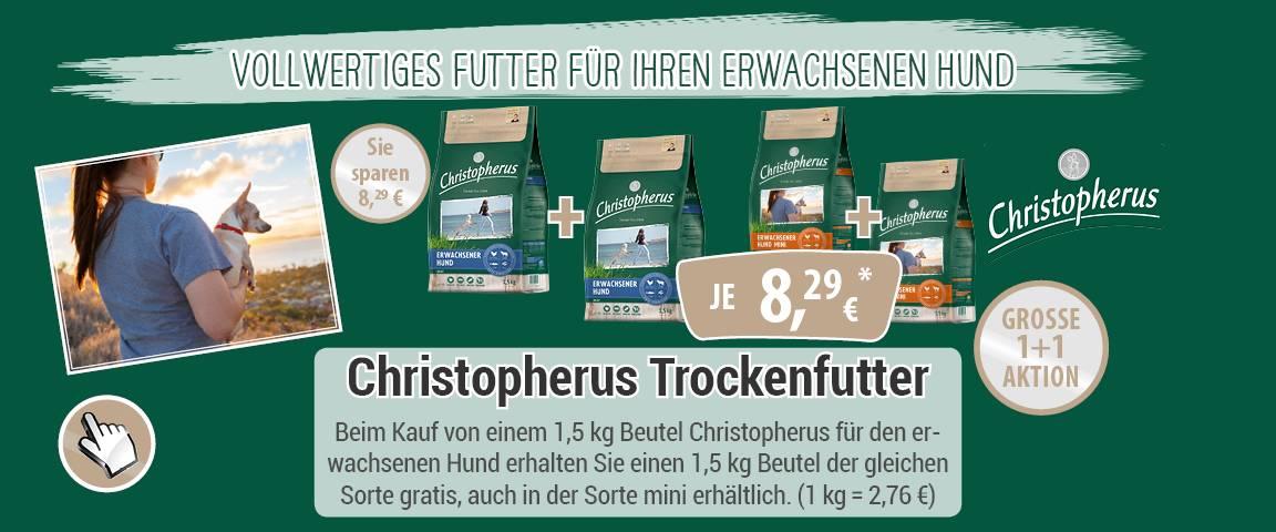 Christopherus für den erwachsenen Hund 1,5 kg + 1,5 kg gratis