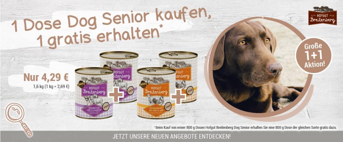 Hofgut Breiteneberg Dog Senior Großmutters Topf 800 g + 800 g gratis