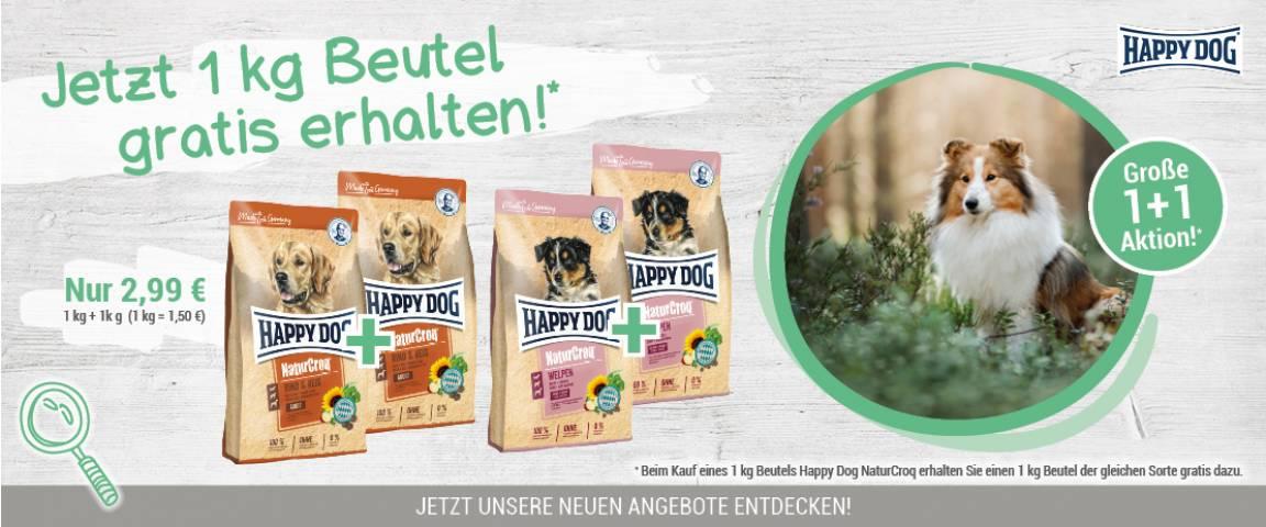 Happy Dog NaturCroq für Welpen 1kg + 1kg gratis