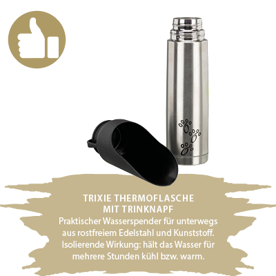 Trixie Thermoflasche Hund
