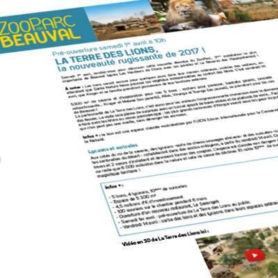 Communiqués de presse - ZooParc de Beauval