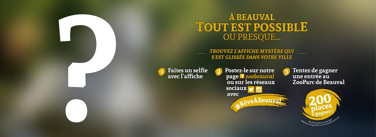 """Grand jeu spécial """"Affiche mystère"""" - ZooParc de Beauval"""