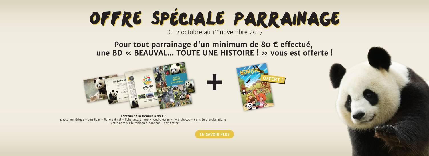 Offre parrainage octobre 2017 - ZooParc de Beauval