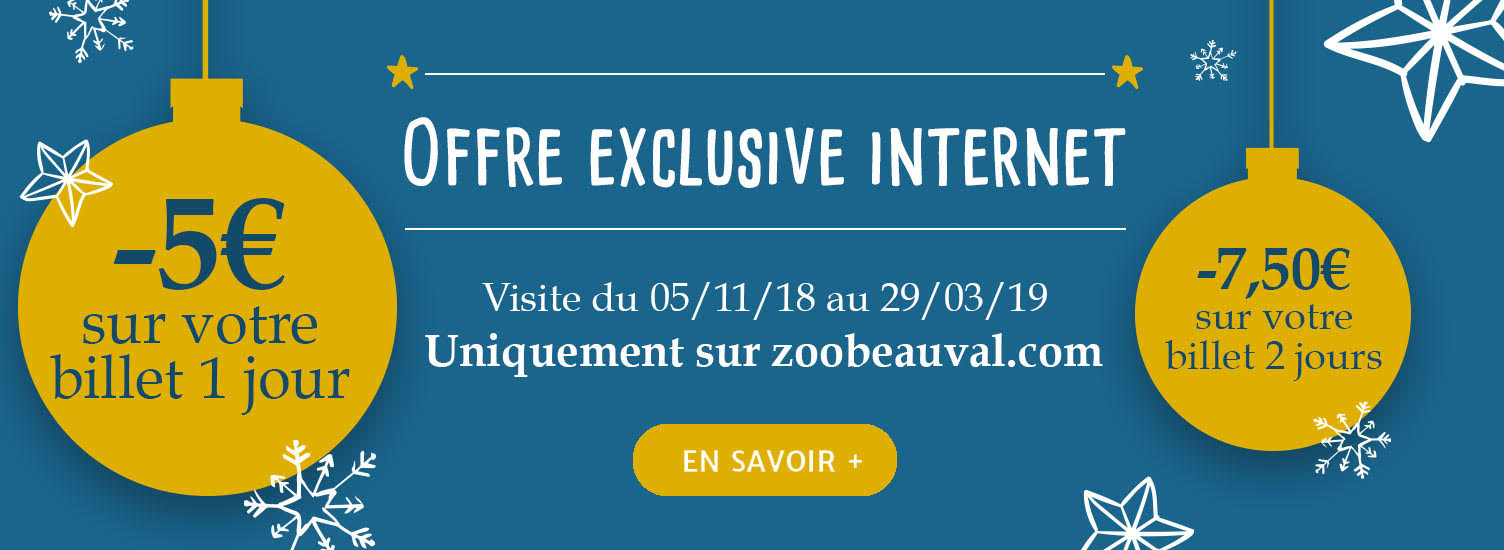 Offre exclusive internet - Billetterie - ZooParc de Beauval