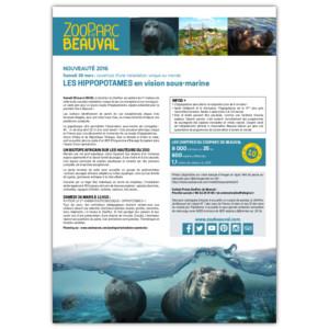 Nouveauté 2016 : Les hippopotames en vision sous-marine